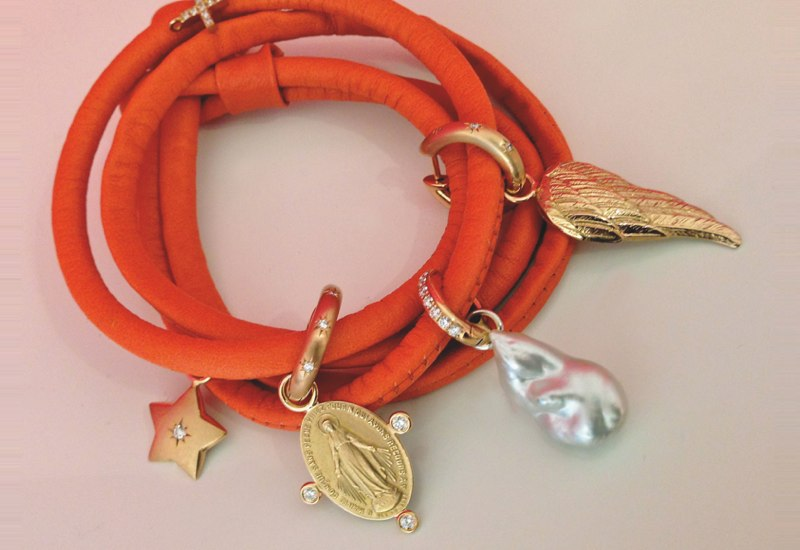 Lederband orange